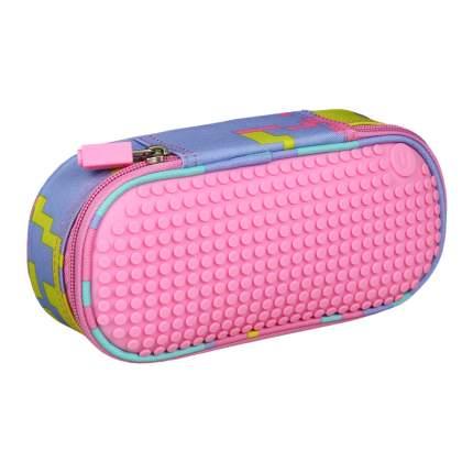 Пенал школьный пиксельный Super class pencil case WY-B012 Розовый