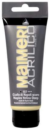 Акриловая краска Maimeri Acrilico M0924107 неаполитанский желтый темный 200 мл
