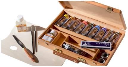 Масляные краски Maimeri Classico M0399075 в деревянном ящике 10 цветов