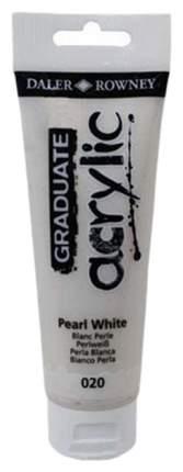 Акриловая краска Daler Rowney Graduate белый жемчуг 120 мл