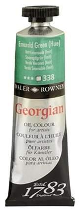Масляная краска Daler Rowney Georgian зеленый изумрудный 75 мл