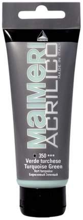 Акриловая краска Maimeri Acrilico M0924350 бирюзовый 200 мл