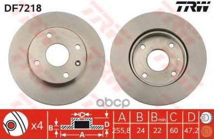 Тормозной диск TRW/Lucas DF7218 передний