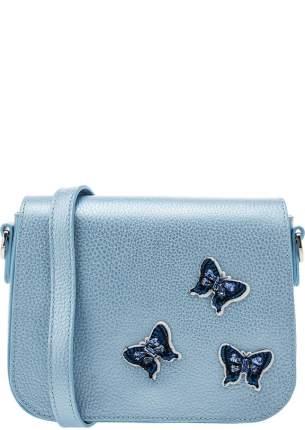 Сумка женская Deboro 3280 l.blue/metallic, синий