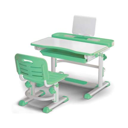 Комплект парта и стульчик Mealux BD-04 EVO-04 new, белый, зеленый,