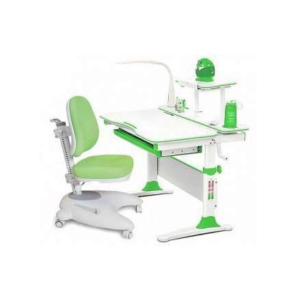 Комплект парта и кресло Mealux EVO-30 с лампой, дерево, зеленый, белый,