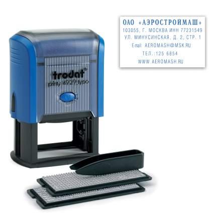 Штамп самонаборный 6-строчный TRODAT 4929/DB (Австрия), кассы в комплекте, 53408