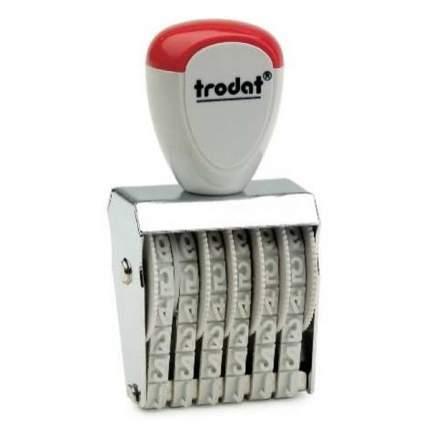Нумератор ленточный Trodat Classic Line 1556. 6 разряда. Высота шрифта: 5 мм.