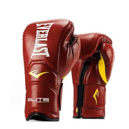 Боксерские перчатки тренировочные Everlast Elite Pro красные 14 унций