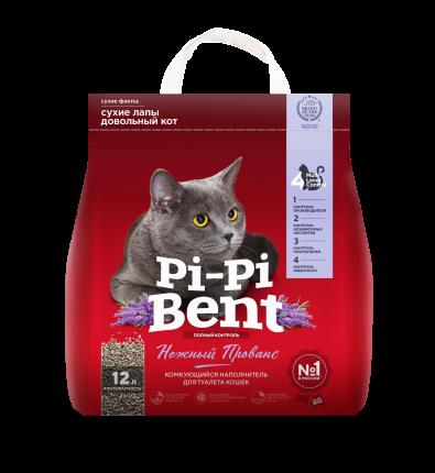 Наполнитель для кошачьего туалета Pi-Pi-Bent Нежный прованс, комкующийся, 5кг, 12л