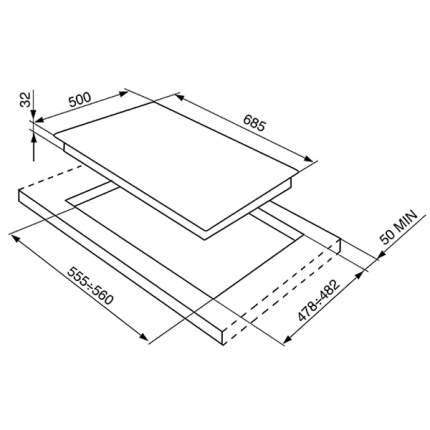 Встраиваемая варочная панель газовая Smeg SPR876BGH White