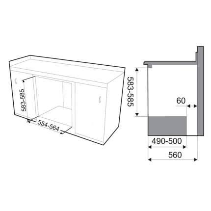 Встраиваемый газовый духовой шкаф Smeg SF800GVPO Beige