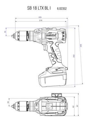 Аккумуляторная дрель-шуруповерт Metabo SB18LTXBLI 602352500 БЕЗ АККУМУЛЯТОРА И З/У