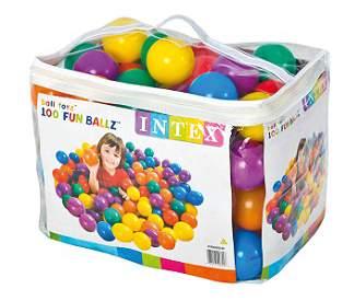 Пластиковые мячи Intex для игровых центров диаметром 8 см, 100 шт.