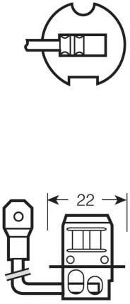 Лампа галогенная автомобильная OSRAM Н3 24 V 70W (64156)