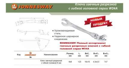 Ключ разрезной JONNESWAY W24A10707
