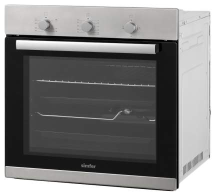 Встраиваемый газовый духовой шкаф Simfer B6GM12011 Silver