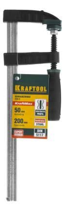 "Струбцина KRAFTOOL ""EXPERT"", тип ""F"", DIN 5117, двухкомпонентная ручка, 50х200мм"