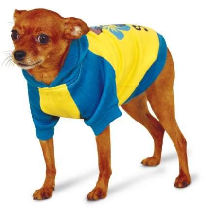 Толстовка для собак Triol Stitch размер XS унисекс, желтый, синий, длина спины 18 см