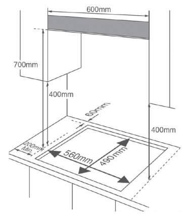Встраиваемая варочная панель газовая Midea MG697TGB Black