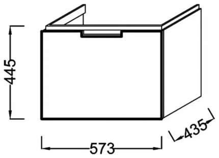 Тумба под раковину 57,3x43,5x44,5 Reve, белый бриллиант, Jacob Delafon без раковины