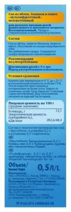 Сок ФрутоНяня Мультифруктовый с 3 лет 500 мл