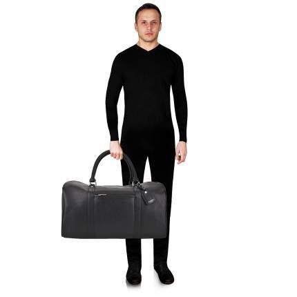 Дорожная сумка кожаная Dr. Koffer B231970-02-04 черная 50 x 27 x 28
