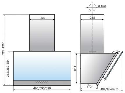 Вытяжка наклонная Elikor Рубин 50П-700-Э4Д Black