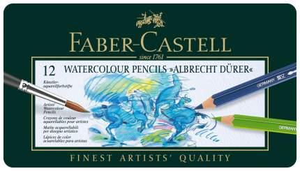 Акварельные карандаши Faber-Castell ALBRECHT DÜRER в металлической коробке, 12 шт