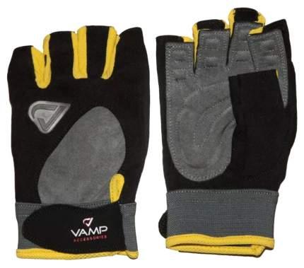 Перчатки для тяжелой атлетики и фитнеса VAMP RE-02, желтые, S