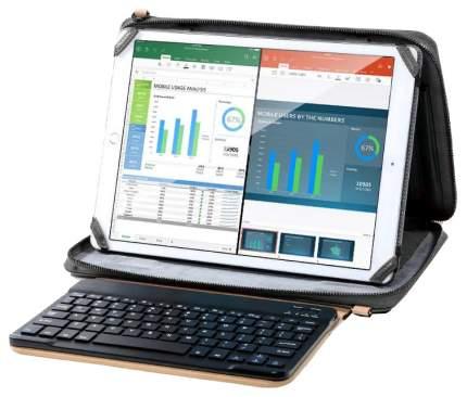 """Сумка для ноутбука 12.9"""" Remax iPad Pro + клавиатура Remax Carry 302 черная/коричневая"""