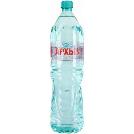 Минеральная вода Архыз негазированная пластик 1.5 л 6 штук в упаковке
