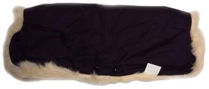 Муфта для коляски из овчины с длинным ворсом bozz черный белый 20-2018-1