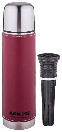 Термос AGNESS, 0,75 л, бордо, со съемным фильтром