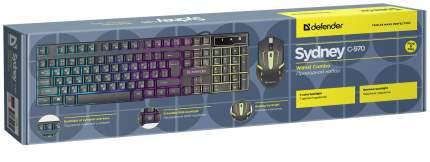 Клавиатура + Мышь Sydney C-970 RU,  USB, черный DEFENDER