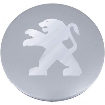 Наклейки на диски литые с логотипом автомобиля Пежо 12050015 D-56 мм серебристые