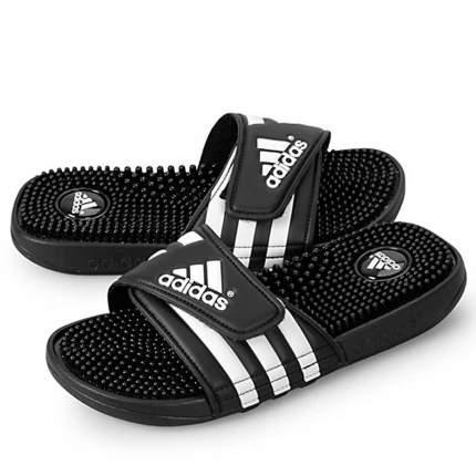 Шлепанцы Adidas Adissage Slides, black/white, 8 US