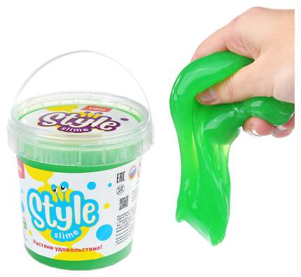 "STYLE SLIME классический ""Зеленый с ароматом яблока"", 150мл."