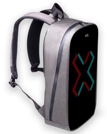 Рюкзак с LED-дисплеем PIXEL MAX - SILVER светло-серый