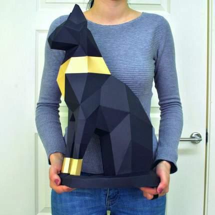 3D-конструктор Paperraz Кошка Бастет черный