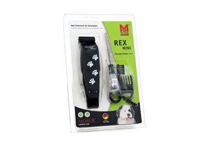 Машинка для стрижки домашних животных MOSER Rex Mini, сталь, черная с лапками, 5 Вт