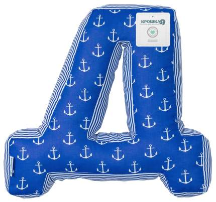 Подушка Крошка Я буква Д 35х37 см, синий