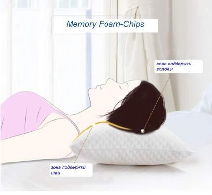 "Подушка Sterling Home Textile ОРТО ""Memory Foam-Chips"" с эффектом памяти 50x70"