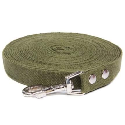 Универсальный поводок для собак Gamma, брезент, зеленый, длина 5 см