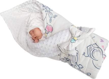 Конверт-одеяло SlingMe Полянка белый