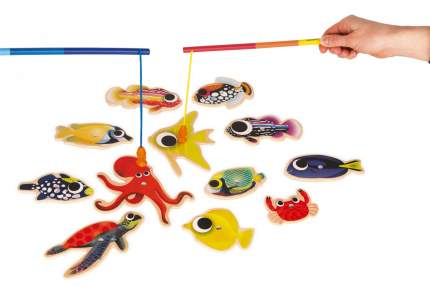 Игра в рыбалку Janod Магнитная рыбалка Тропики J08154