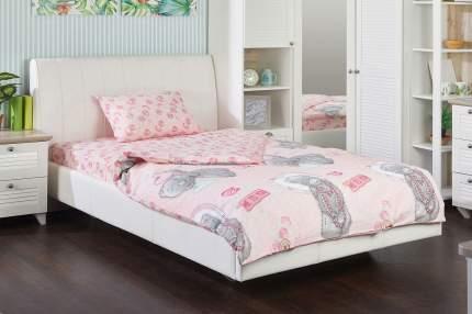 Постельное белье Мона Лиза MTY 1,5-спальное с подарком на розовом