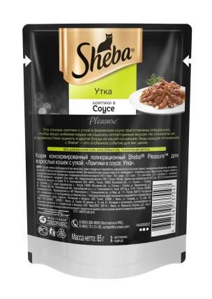 Влажный корм для кошек Sheba Pleasure, ломтики в соусе, утка, 24 шт. по 85 г