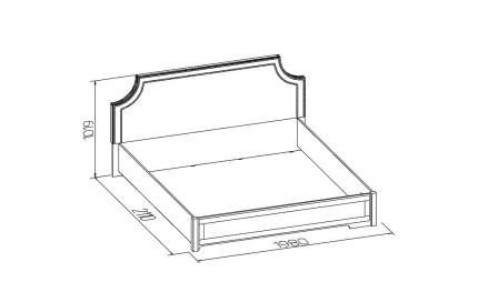 Кровать двуспальная Глазов мебель Карина 306 180х200 см, белый