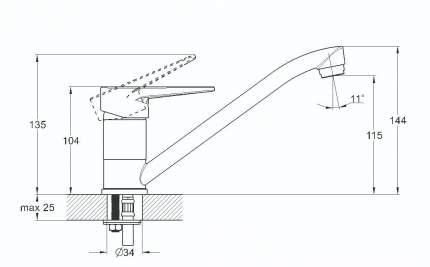 Смеситель для кухонной мойки SOLONE 4L-A045